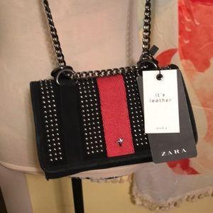 Bnwt Zara leather crossbody